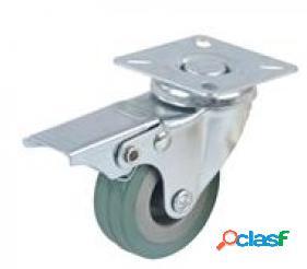 Fixman Rueda giratoria de goma con freno 50 mm, 50 kg