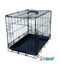 Flamingo Jaula Negro xs 1 puerta para perros 44,5 x 29,4 x