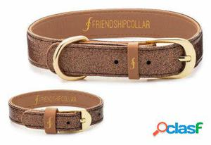 FriendshipCollar Collar The Sparkling Pup - Glitter Bronze