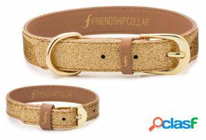 FriendshipCollar Collar The Sparkling Pup - Glitter Gold xS