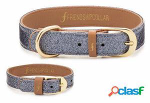 FriendshipCollar Collar The Sparkling Pup - Glitter Silver