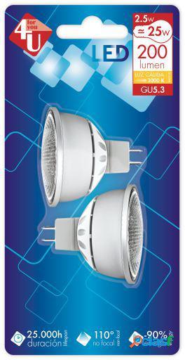 Garza Led 4U SMD G5.3 Bipack 2.5W 120 200Lm