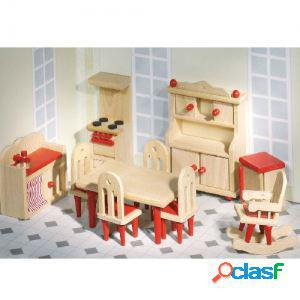 Goki Muebles para muñecas flexibles, cocina