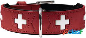 Hunter Collar Swiss para perros color rojo y negro T-42