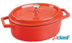 Lacor Cacerola Oval Roja Aluminio Fundido 31x25 cm