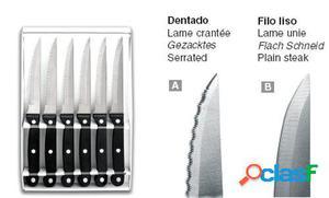 Lacor Set 6 Cuchillos Chuleteros Lisos