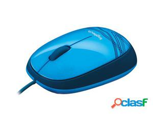 Logitech M105 USB Óptico Ambidextro Azul ratón