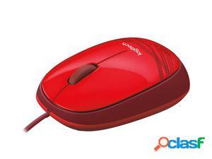 Logitech M105 USB Óptico Ambidextro Rojo ratón
