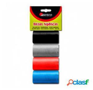 Nayeco Bolsas Higiénicas 4 Rollos Colores Surtidos 70 GR