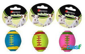 Nayeco Juguete para Perros Pequeños Pelota de Rugby 3x100