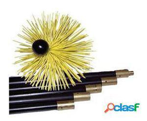 OkFuego Kit Deshollinador Mecanico Nylon 5 Cañas + Erizo