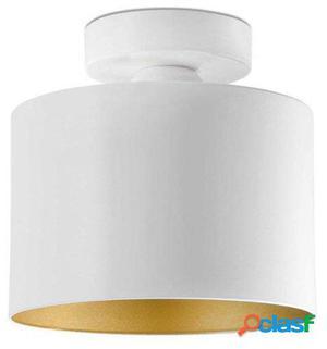 Plafón Nuoli E27 20W 120x180mm metal blanco y oro