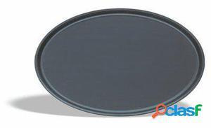 Pujadas Bandeja antideslizante forma oval negra 68 x 56