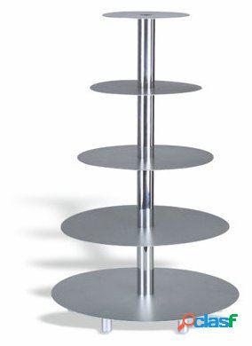 Pujadas Expositor De Tartas Aluminio 5 Pisos