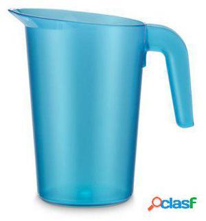 Pujadas Jarra policarbonato sin tapa apilable 1 litro azul