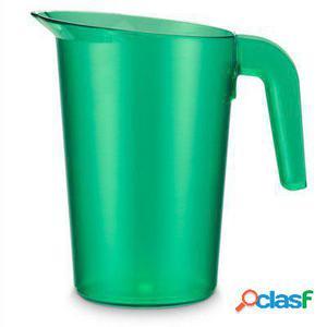 Pujadas Jarra policarbonato sin tapa apilable 1 litro verde