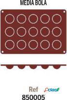 Pujadas Molde Silicona 1/2 Bola 15 Unidades