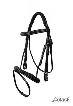 QHP Cabezada luxury cosida negro pony