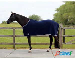 QHP Manta de lana azul 215 cm