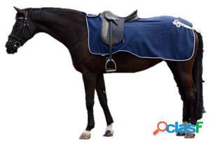 QHP Manta ejercicio lana con adorno azul / plata XL