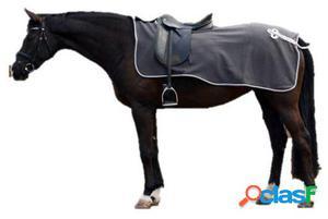 QHP Manta ejercicio lana con adorno gris / plata L