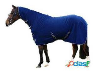 QHP Manta lana básica con cuello azul 185 cm