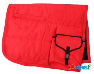 QHP Mantilla con bolsillos full Rojo