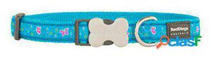 Red Dingo Collar para Perros Butterfly Turquesa S 300 GR