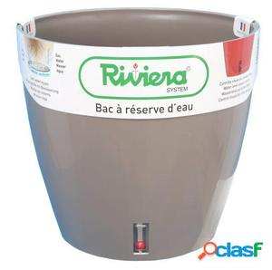 Riviera Maceta Eva New Redonda 26 Cm Beige