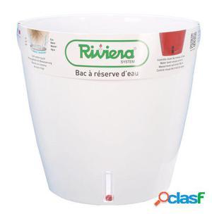 Riviera Maceta Eva New Redonda 26 Cm Blanca