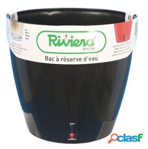 Riviera Maceta Eva New Redonda 36 Cm Negra