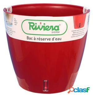 Riviera Maceta Eva New Redonda 36 Cm Roja