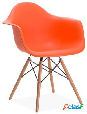 Silla Eames Naranja Inspiración De Charles & Ray Eames