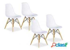 Sillas Eames Pack De 4 Blanco