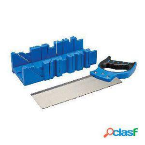 Silverline Caja de ingletes con sierra 300x90mm