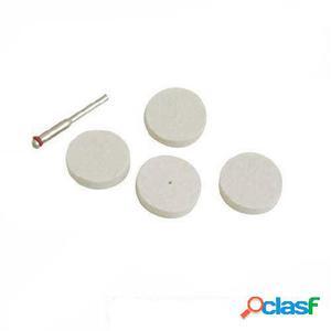 Silverline Discos pulidores de fieltro para herramienta