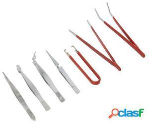 Silverline Pinzas de precisión 7 piezas