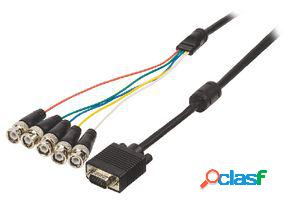 Valueline Cable vga-bnc de vga macho-5x bnc macho de 2 m