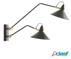 Wellindal Aplique 66x19x30 metal negro y bronce