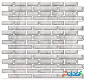 Wellindal Azulejo Adhesivo 3D Clear Wall Estilo Mosaico