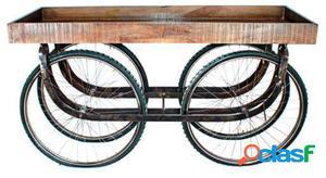 Wellindal Carro Trolley Con Rueda De Bicicletas