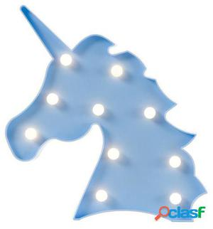 Wellindal Lámpara Decorativa Happy Unicorn Sobremesa Azul