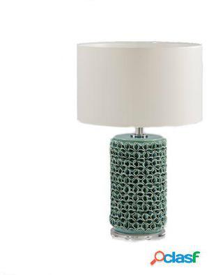 Wellindal Lámpara Sobremesa 17x45 Ceramica Verde Sin