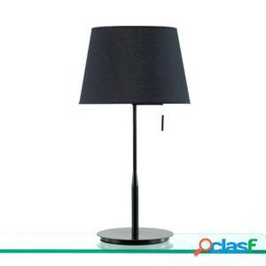 Wellindal Lámpara Sobremesa 25x36x50 Metal Negro y Pantalla