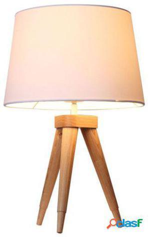 Wellindal Lámpara de sobremesa nilsen blanco y madera