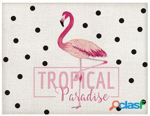 Wellindal Mantel Flamingo 40X30 1 Persona