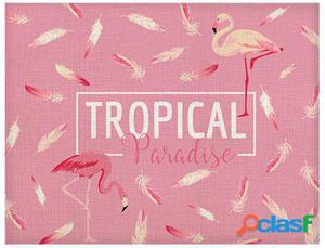 Wellindal Mantel Tropical 40X30 1 Persona Rosa Claro