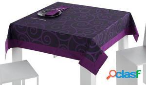 Wellindal Mantel jacquard aranda aplique y servilleta caja