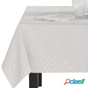 Wellindal Mantel jacquard llanes y servilletas crema