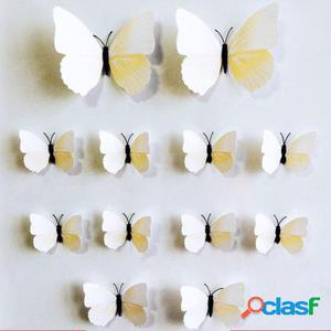 Wellindal Mariposas De Vinilo Adhesivo Flying -12 Piezas